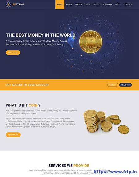 BitString-Bitcoin-HTML5-Template