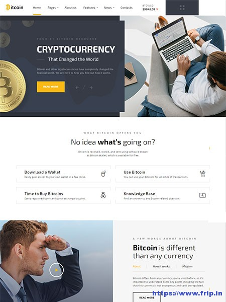 Bitcoin-Cryptocurrency-Website-Template