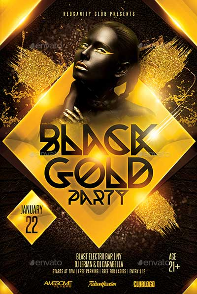Black-Gold-Party-Flyer