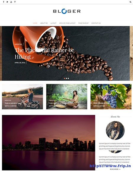 Bloger-WordPress-Blogging-Theme