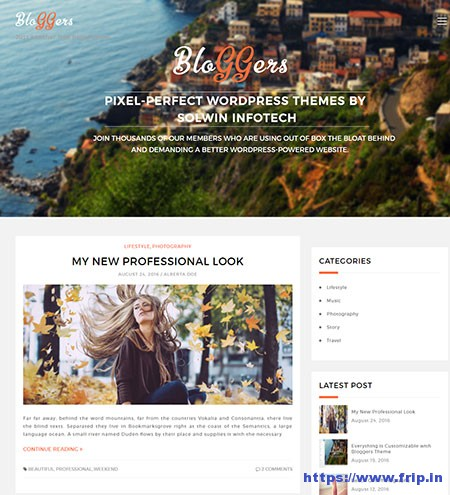 Bloggers-Lite-WordPress-Theme