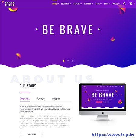 Brave-Theme-Multipurpose-HTML-Website-Template