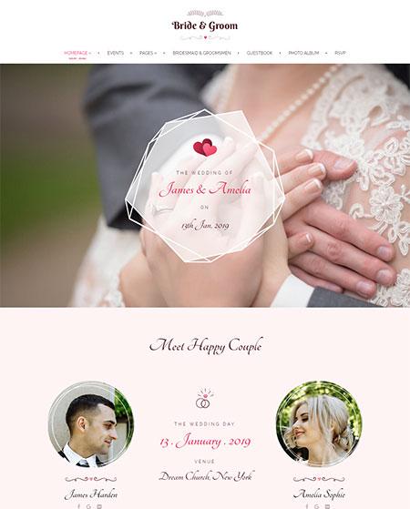 Bride-&-Groom-Wedding-WordPress-Theme