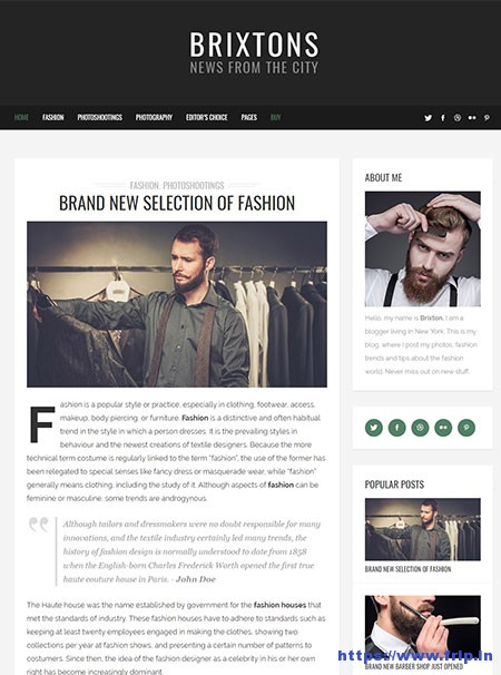 Brixton-WordPress-Blog-Theme