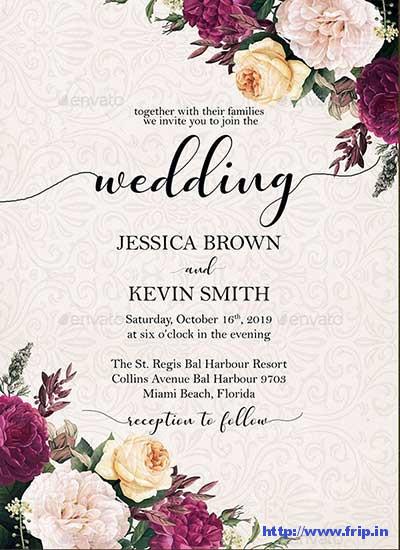 Burgundy-Floral-Wedding-Invite