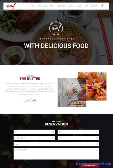 Butter-Restaurant-WordPress-Theme