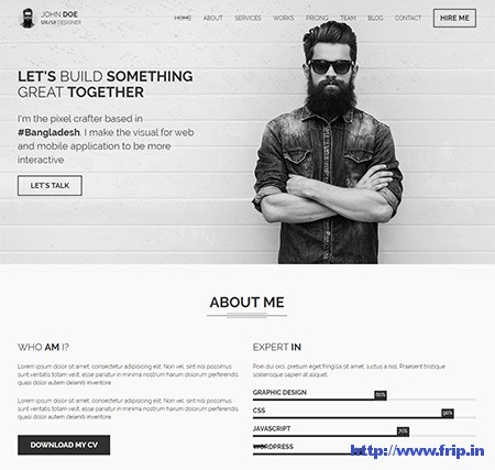 CVIT-Resume-WordPress-Theme