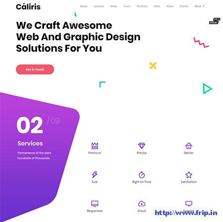 Caliris-One-Page-WordPress-Theme