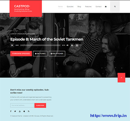 Castpod-Audio-Podcasts-WordPress-Theme