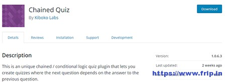 Chained-Quiz-WordPress-Plugin