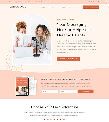 ChicSavvy--WordPress-Theme
