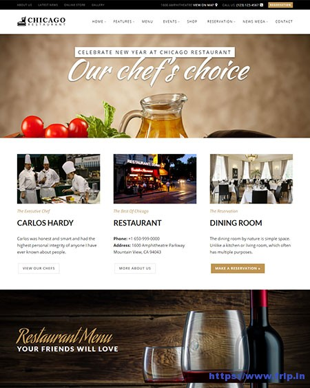 Chicago-Cafe-WordPress-Theme