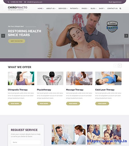 Chiropracto-Physical-Therapy-WordPress-Theme