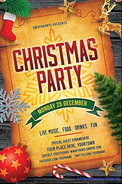 Christmas-Party-Flyer