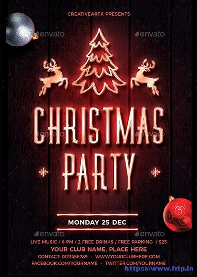 Christmas-Party-Neon-Flyer