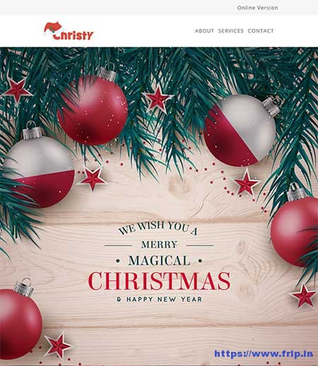 Christy-Christmas-Email-Template-With-Stampready-Builder