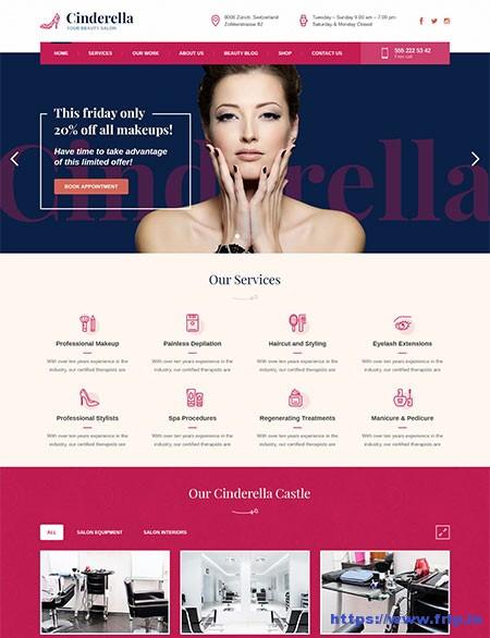 Cinderella-Beauty-Hair-&-Spa-Salon-WordPress-Theme