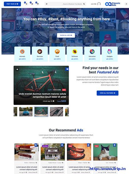 Classicads--Classifieds-Ads-Template