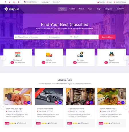Claylist-classified-ads-website-templates