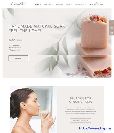 Cleanskin-Handmade-Organic-Skincare-Theme