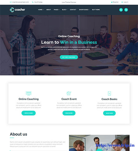 Coacher-WordPress-Theme