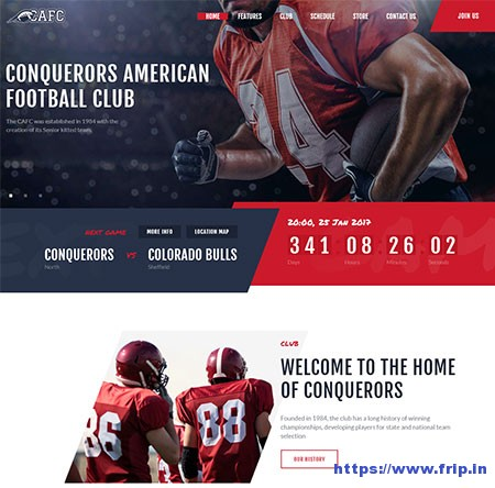 Conquerors-American-Football-Club-Theme