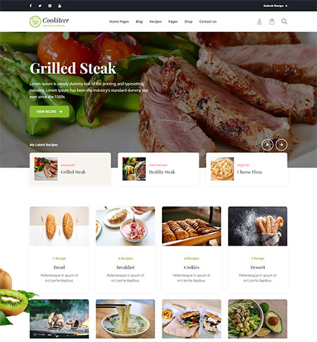 Cookiteer-Food-&-Recipe-WordPress-Theme