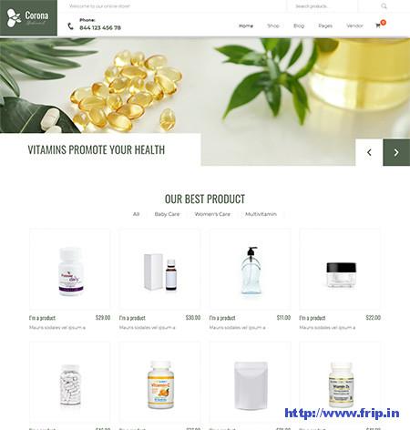 Corona-Medical-Pharmacy-Theme