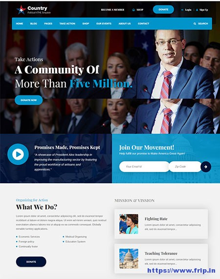 Country-Political-HTML-Template