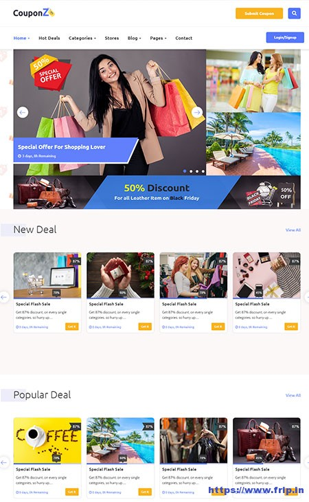 CouponZ-Deals-&-Coupon-HTML-Template