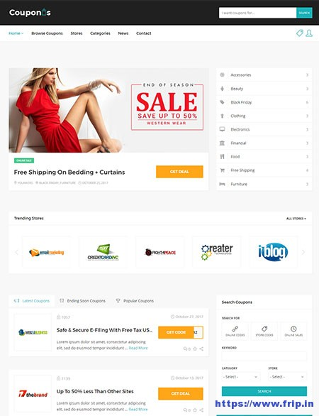 wordpress coupon themes