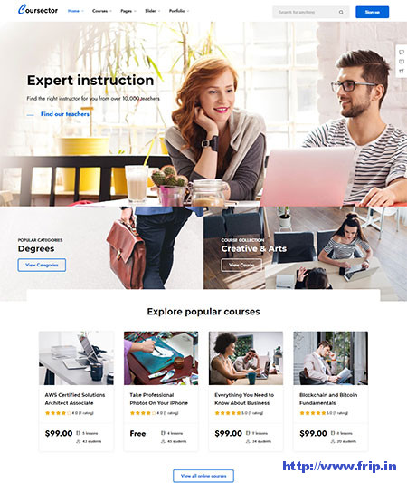 Online Course WordPress Themes