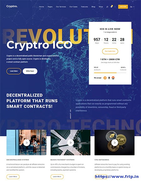 Cryptro-Cryptocurrency-WordPress-Theme