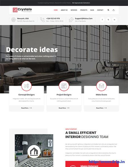 Crystalo-Interior-Design-WordPress-Theme