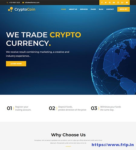 bitcoin website templates