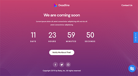 Deadline-React-Coming-Soon-Templates
