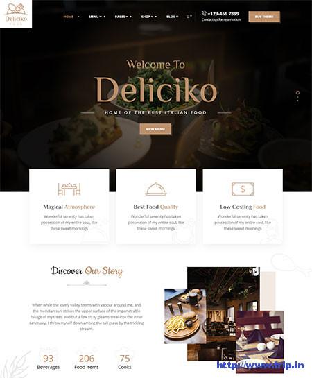 Deliciko-Restaurant-WordPress-Theme