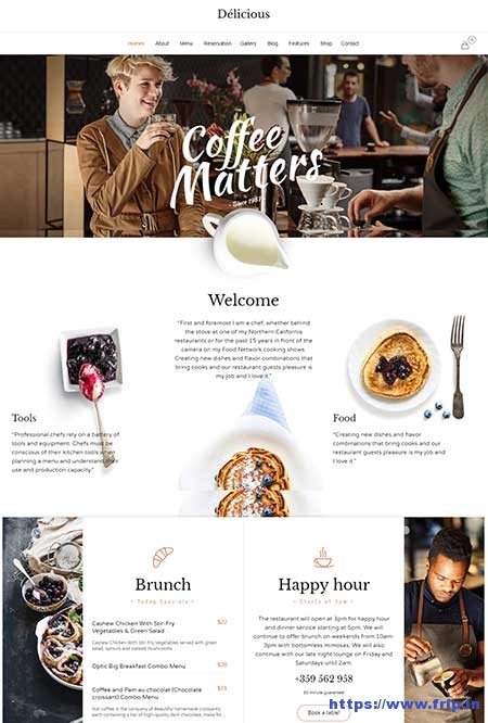 Delicious-Cafe-WordPress-Theme