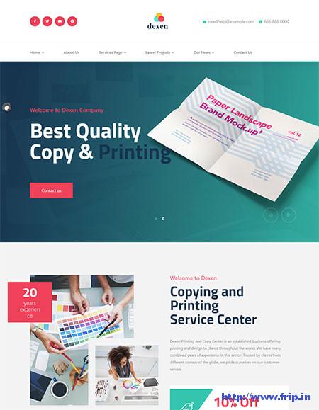 Dexen-Printing-Company-Theme
