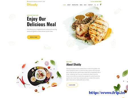 Dfoody-Restaurant-PSD-Template