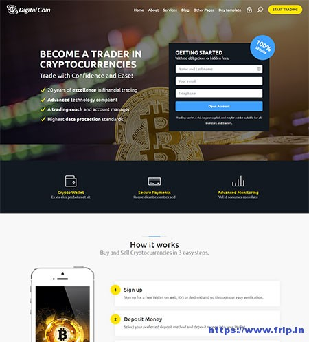 Edit bootstrap template cryptocurrency