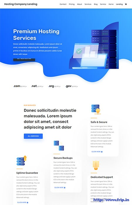 Divi-Hosting-WordPress-Theme