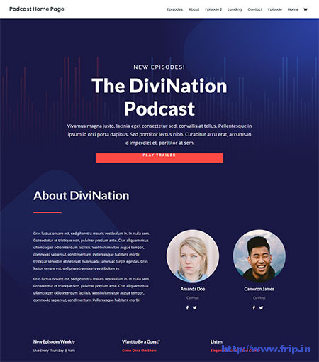 Divi-podcast-WordPress-Theme