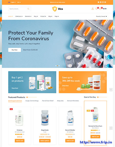 Diza-Pharmacy-Medical-WooCommerce-Themes