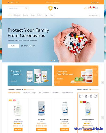 Diza-Pharmacy-Store-WooCommerce-Theme