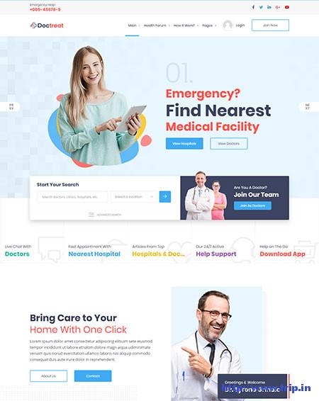 DocTreat-Doctors-Directory-WordPress-Theme