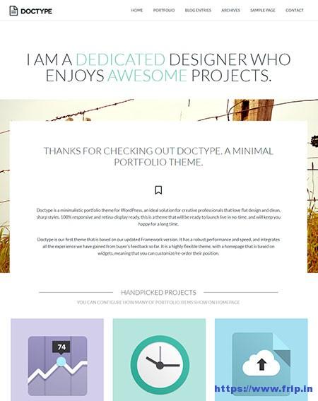 Doctype-Minimal-Portfolio-WordPress-Theme