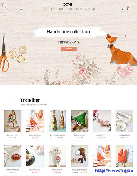 Dove-Handmade-Crafts-Theme