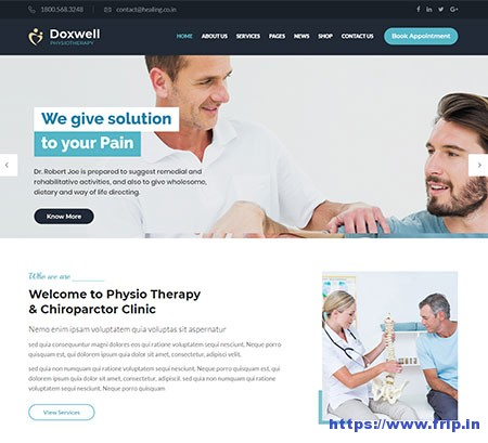 Doxwell-Physical-Therapy-WordPress-Theme