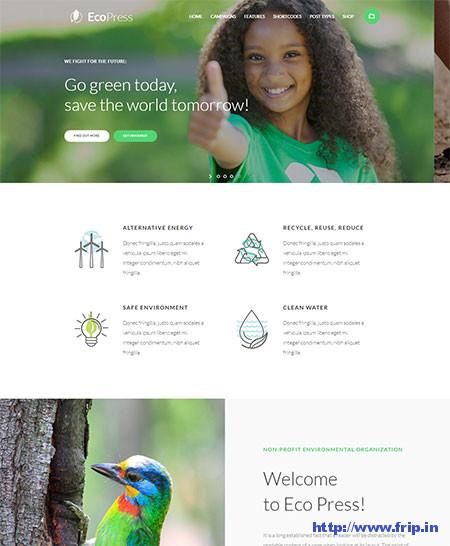 EcoPress-Ecology-WordPress-Theme